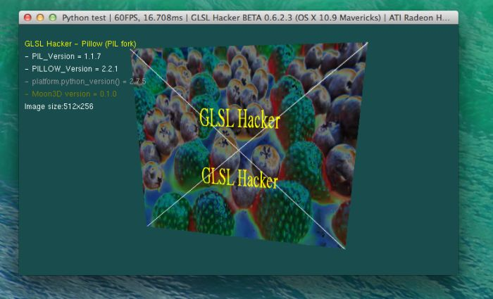 GLSL Hacker, Pillow (PIL fork) watermark, Python