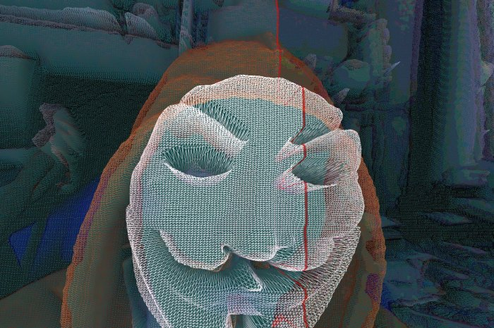 GLSL Hacker, webcam, displacement mapping