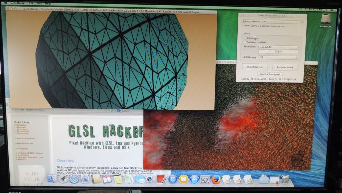 Hackintosh OpenGL 4 test with GLSL Hacker