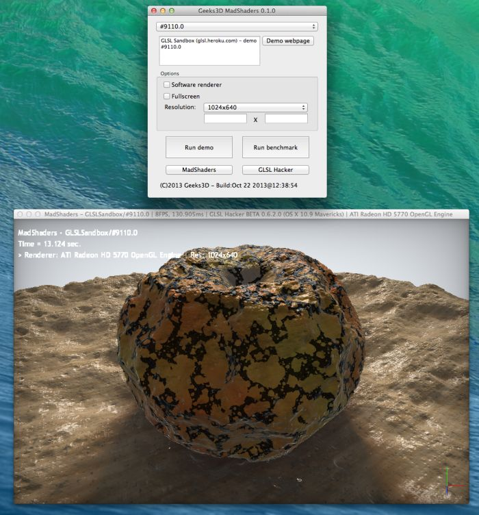 MadShaders, GLSL Sandbox demo #9110