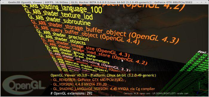 R331.20 for Linux, GLSL Hacker OpenGL viewer