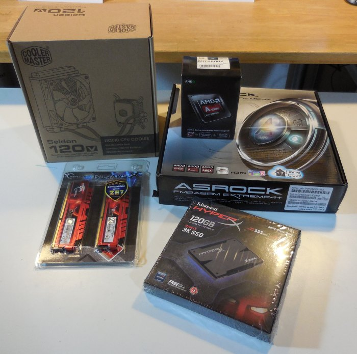 ASRock FM2A88M Extreme4+ and AMD A10-6800K setup