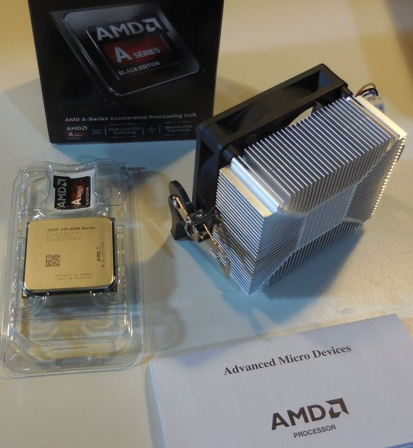AMD A10-6800K APU, stock cooler