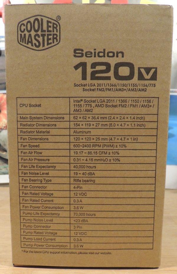 Cooler Master Seidon 120v CPU cooler