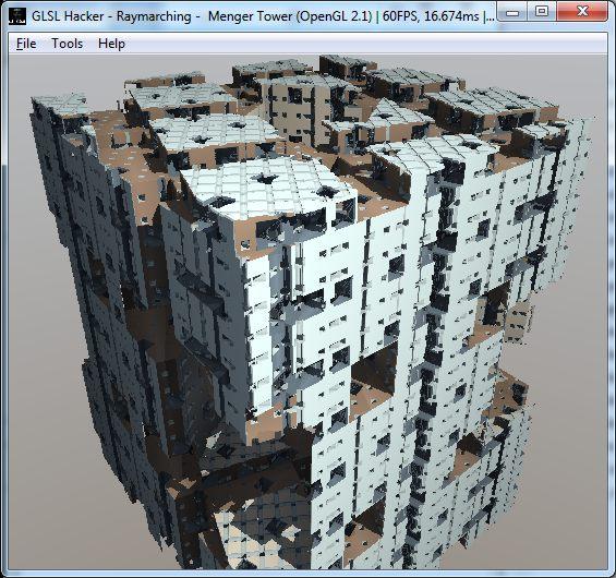 (GLSL) Menger Tower demo