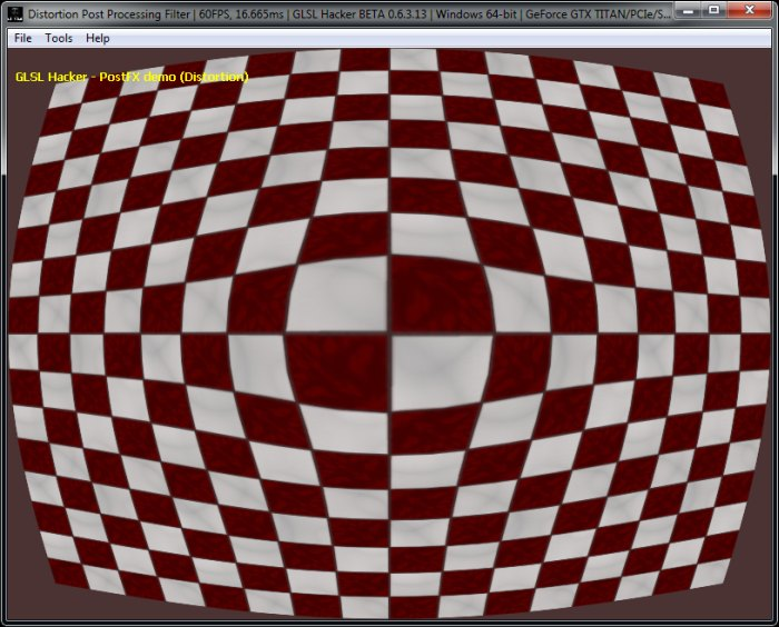 Shader Library) Fish Eye, Dome and Barrel Distortion GLSL Post