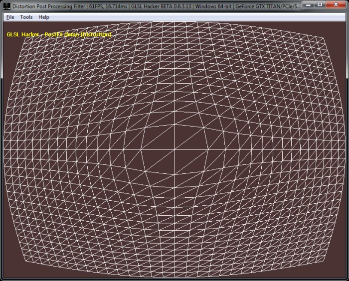 (GLSL Shader Library) Fish Eye Post Processing Filter, Dome Distortion, barrel distortion