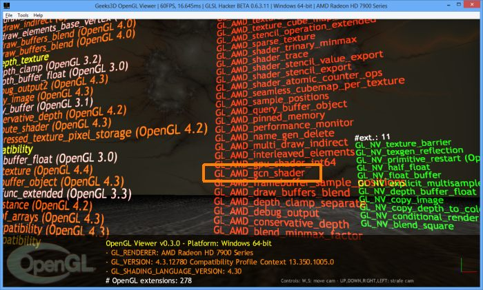 GLSL Hacker, AMD Catalyst 14.1, OPenGL Viewer