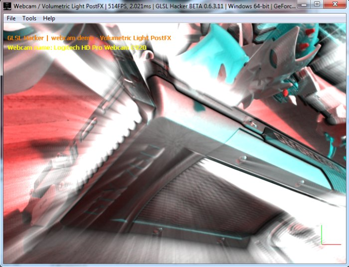 GLSL Hacker, volumetric light post processing filter, GeForce GTX 780