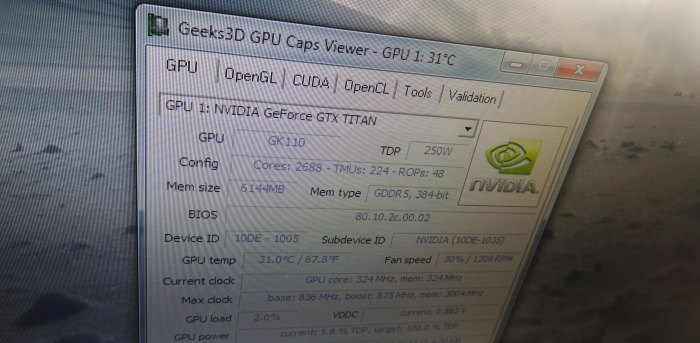 GPU Caps Viewer 1.20.1 - GeForce GTX Titan