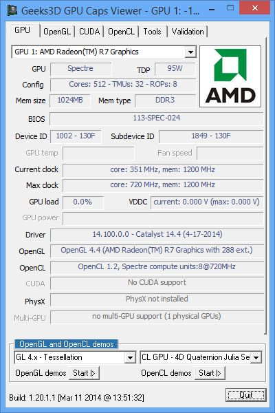 AMD Catalyst 14.4 WHQL - GPU Caps Viewer