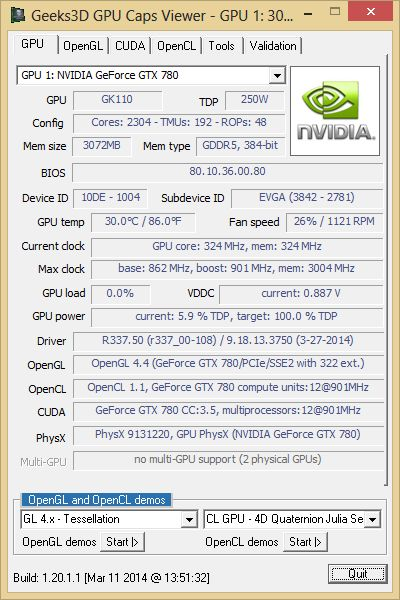 NVIDIA R337.50 + GPU Caps Viewer