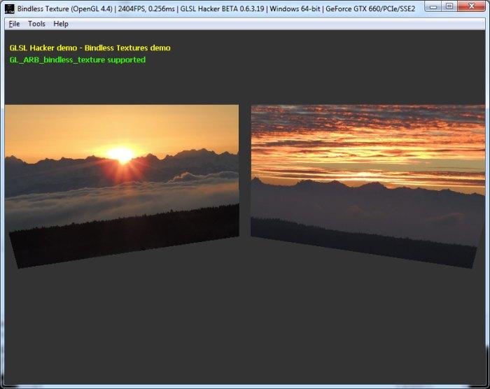 OpenGL 4 4 Bindless textures