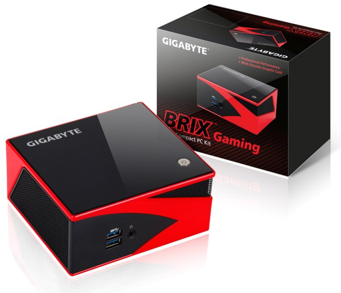 GIGABYTE Brix Gaming Compact PC Kit with AMD GPU