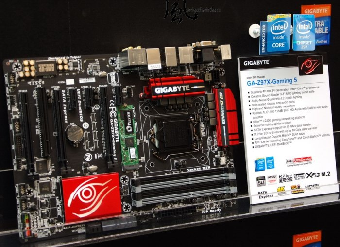 GIGABYTE GA Z97X Gaming 5 motherboard (SLI and CrossFire)
