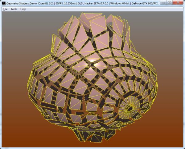 Mesh Exploder with Geometry Sha