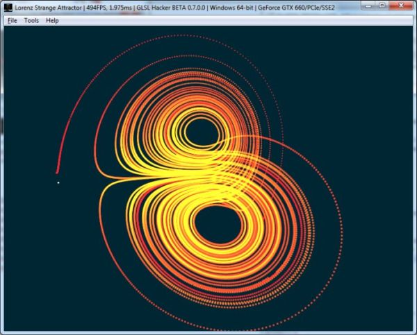 GLSL Hacker - Lorenz attractor
