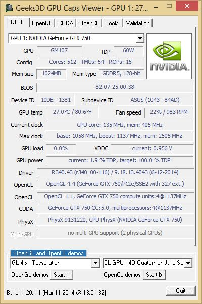 R340.43 + GPU Caps Viewer