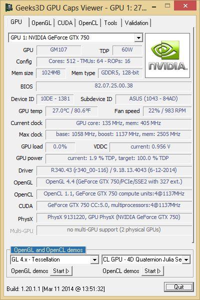 R340.43 + GPU Caps Viewer