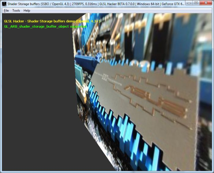 GLSL Hacker demo: OpenGL 4.3 shader storage buffer demo