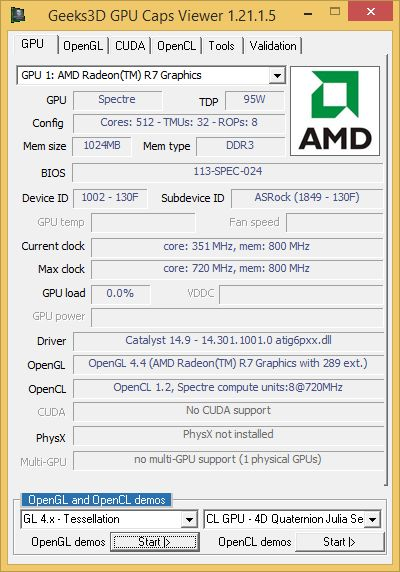 AMD Catalyst 14.9 - GPU Caps Viewer