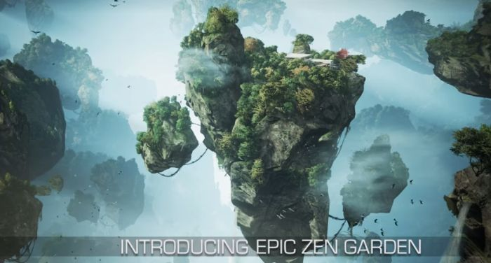 Epic Zen Garden: Unreal Engine 4 TechDemo for IOS 8 with Metal API