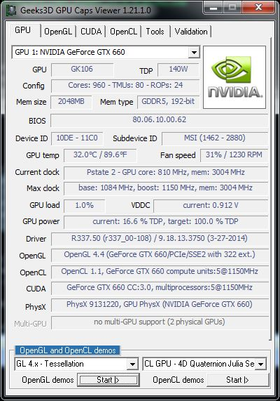 GPU Caps Viewer 1.21.1