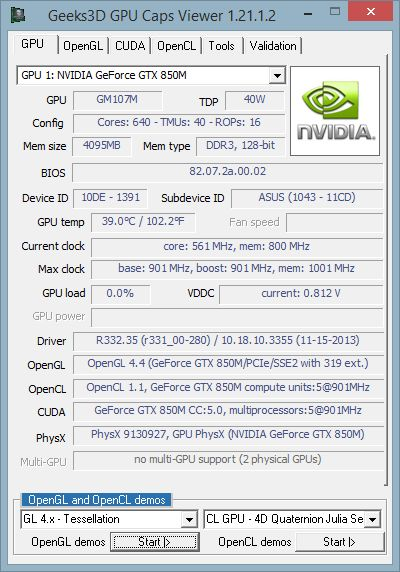 GPU Caps Viewer 1.21.1.2