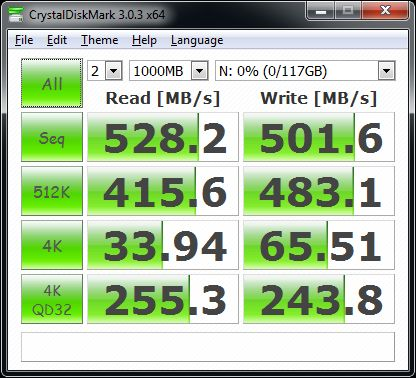 Samsung SSD 850 PRO 512GB - Crystal Disk Mark