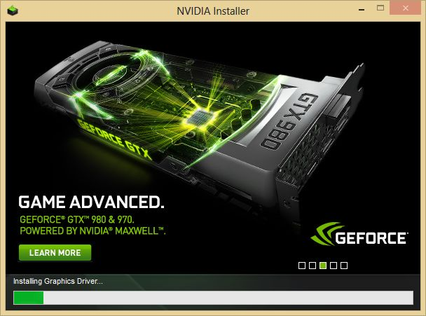 NVIDIA graphics driver installer