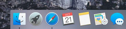 OS X 10.10 Yosemite - flat icons