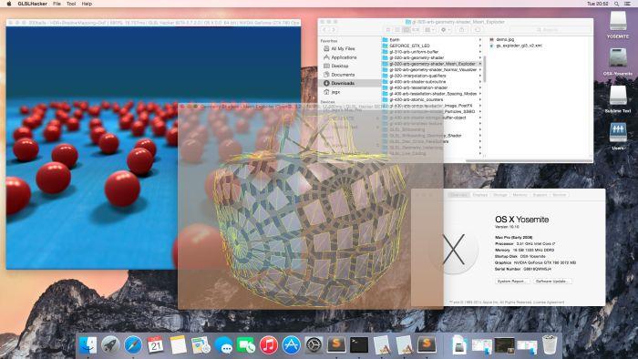 OS X 10.10 Yosemite - GLSL Hacker demos