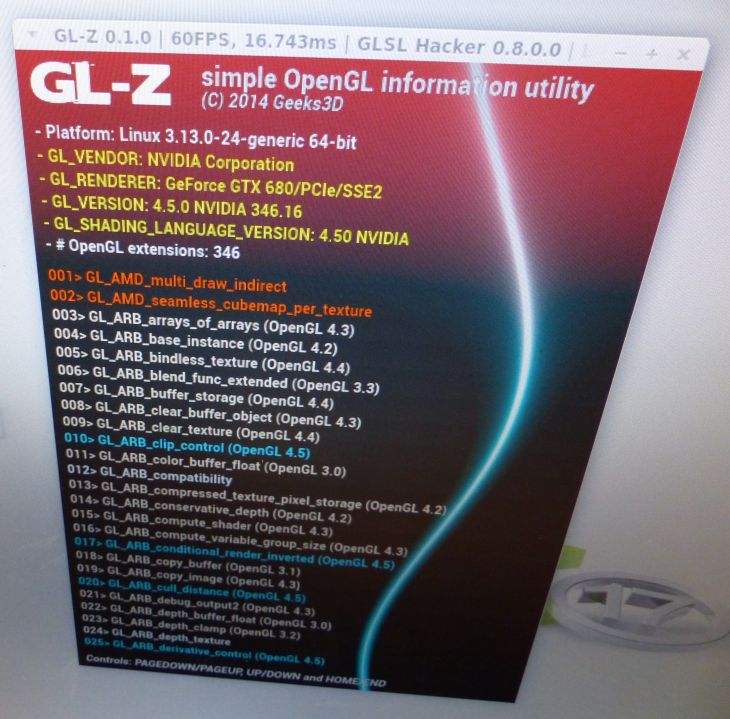 GL-Z: OpenGL information utility for Windows, Linux and OS X
