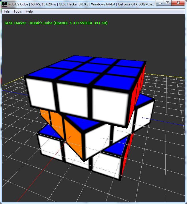 GLSL Hacker demo - Rubik's Cube