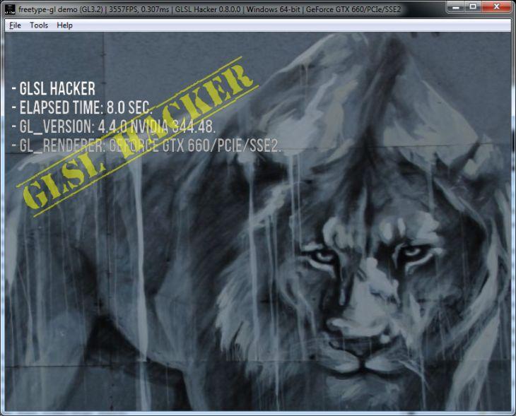 GLSL Hacker - TTF/OFT fonts demos