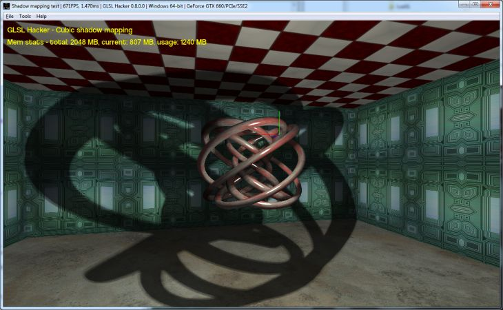 GLSL Hacker - omnidirectional shadow mapping
