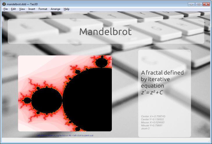 Tao3D - Mandelbrot demo