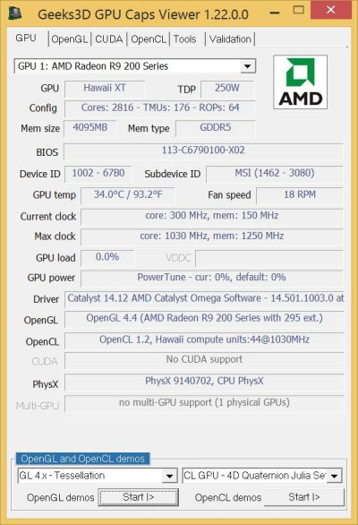 AMD Catalyst Omega driver - GPU Caps Viewer