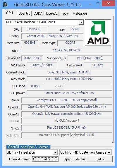 MSI Radeon R9 290X Gaming 4G