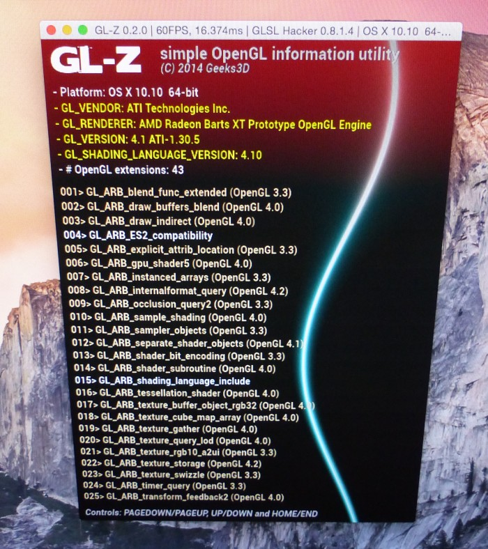 GL-Z - OpenGL information utility