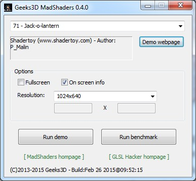 MadShaders 0.4.0 user interface on Windows