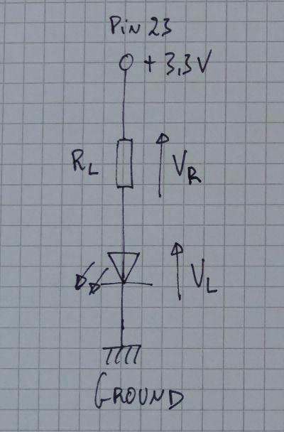 Simple LED + resistor circuit