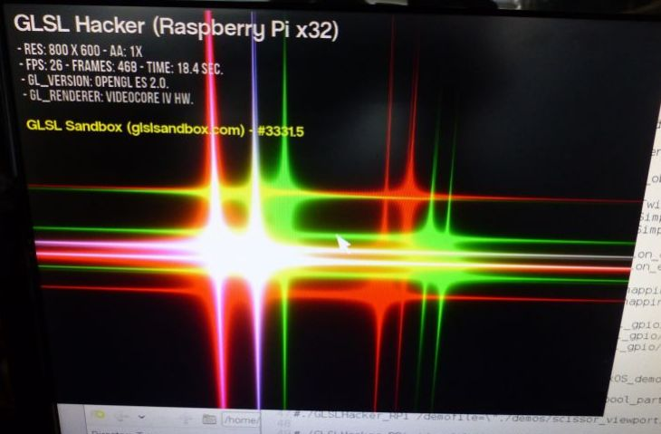GLSL Hacker for Raspberry Pi