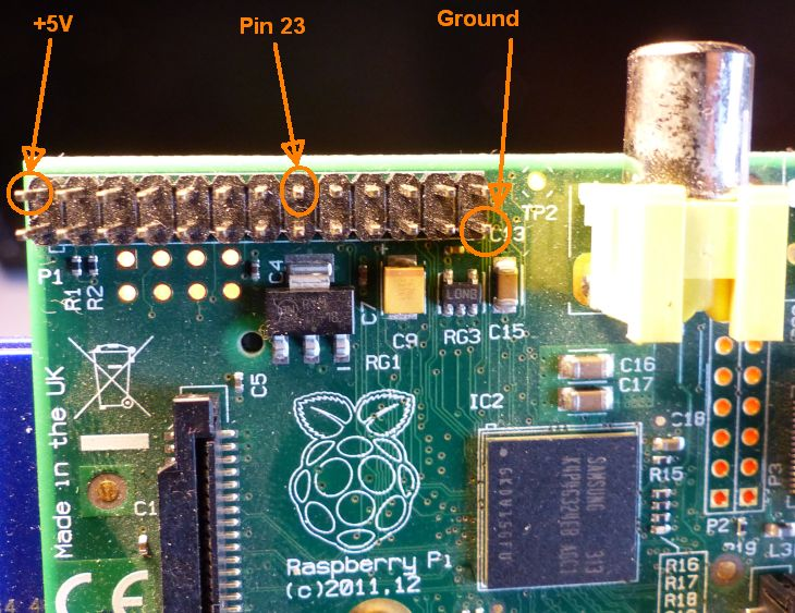 How to Control a LED With Raspberry PI GPIO and GLSL Hacker - the pin 23