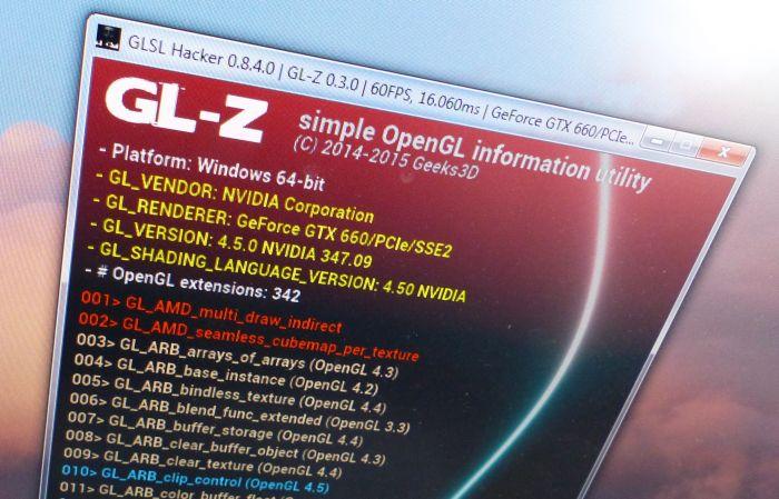 GL-Z OpenGL information utility