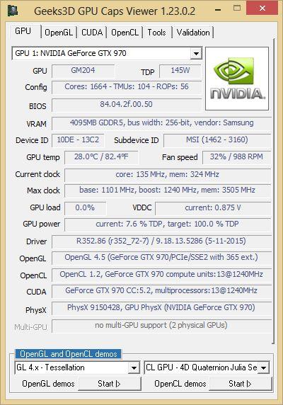 NVIDIA R352.86 - GPU Caps Viewer - GTX 970