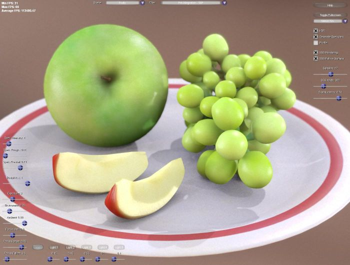 Separable Subsurface Scattering demo