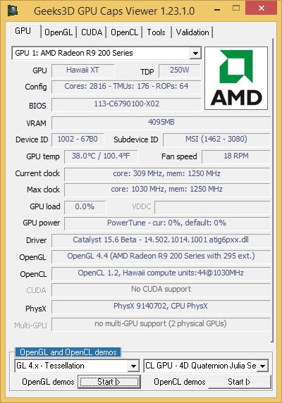 AMD Catalyst 15.6 - GPU Caps Viewer
