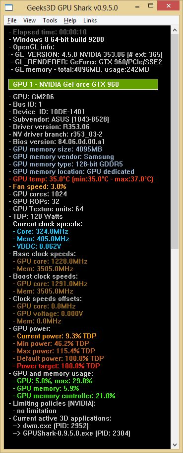 ASUS Strix GTX 960 DirectCU2 OC 4GB - GPU Shark