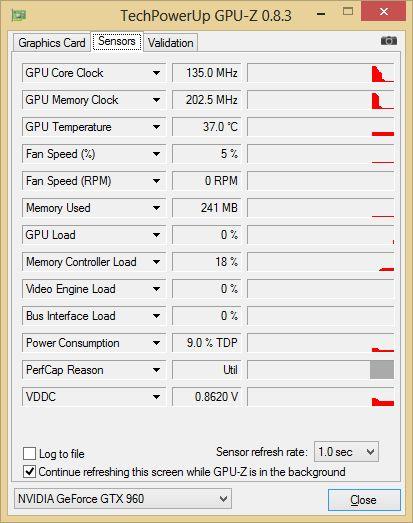 ASUS Strix GTX 960 DirectCU2 OC 4GB - GPU-Z